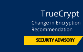 TrueCrypt No Longer Recommended for Encryption