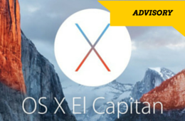 El Capitan OSx 10.11 Upgrade Advisory