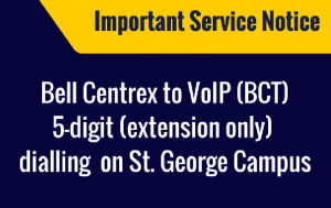 5 Digit Dialling on St Goerge Campus
