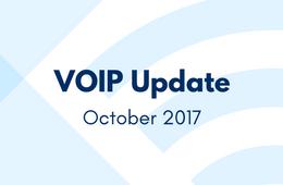 VOIP Update - October 2017