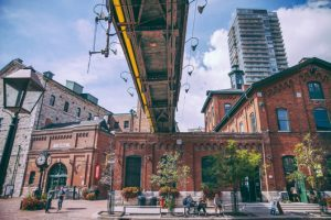 The Distillery District is named after this area's history in distilling spirits.