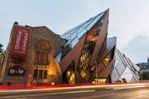North facade of the Royal Ontario Museum, with Daniel Libeskind's dramatic deconstructivist entrance (The Crystal).